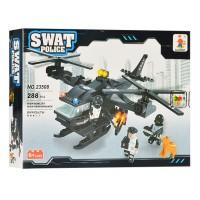 Set constructie elicopter Swat Police Ausini, 288 piese