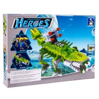 Set constructie robot Armored Heroes Ausini, 35 cm, Verde