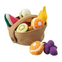 Set cos fructe, 9 piese, 3 ani+, Multicolor