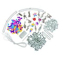 Set creatie bijuterii pentru fetite Galt Charm Jewellery, 12 pandantive, 300 de margele