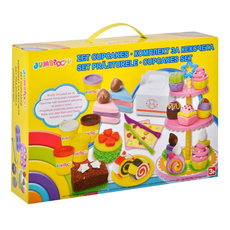 Set creativ plastilina Cupcakes, accesorii incluse 2021 shopu.ro