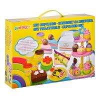 Set creativ plastilina Cupcakes, accesorii incluse