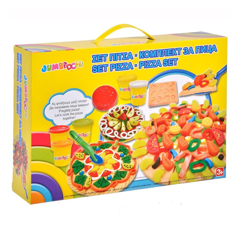 Set creativ plastilina Pizza, accesorii incluse, 3 ani+ 2021 shopu.ro