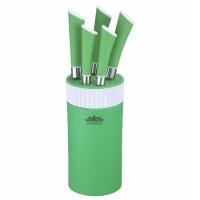 Set cutite 5 piese Peterhof, inox, suport inclus, Verde
