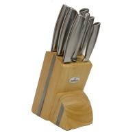 Set cutite inox Bohmann BH-5041, 8 piese, suport lemn