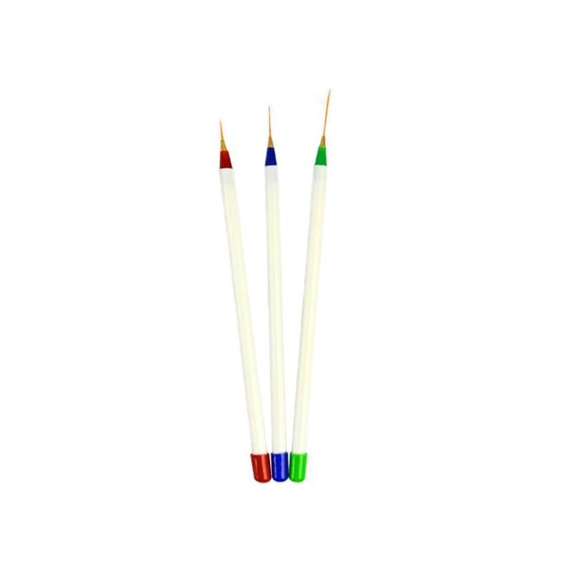 Set de 3 pensule pentru pictura unghii