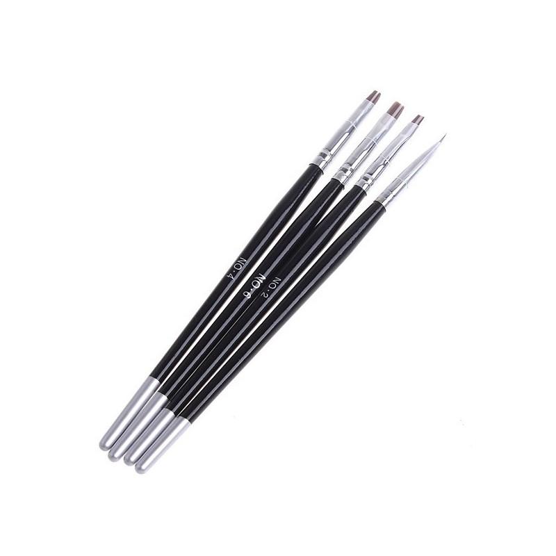 Set de 4 pensule pentru gel