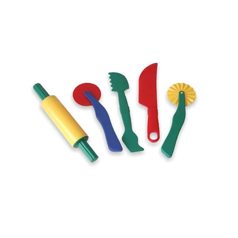 Set accesorii pentru modelaj, 5 piese, Multicolor 2021 shopu.ro