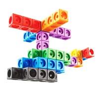 Set de constructie MathLink, 200 cuburi in 10 culori diferite, 5 - 9 ani