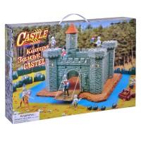 Set de constructie castel, accesorii incluse