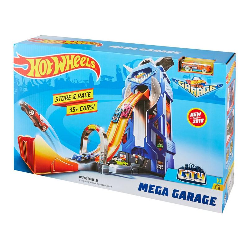 Set de construit Hot Wheels Mega Garage, 60 x 14 x 38 cm