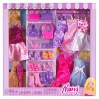 Set de joaca pentru fetite, 6 rochii, accesorii incluse
