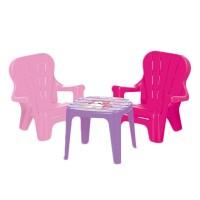 Set de masa cu scaune Dolu Unicorn, picioare masive si colturi rotunjite
