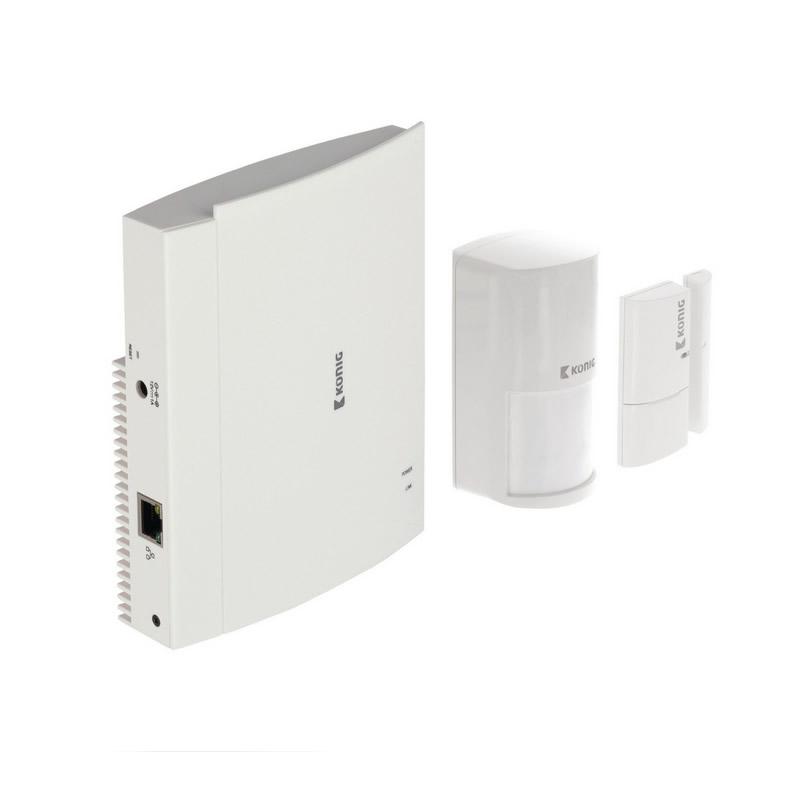 Set de securitate pentru case inteligente Konig, unitate centrala si senzor miscare
