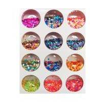 Set decoratiuni pentru unghii tip buline, Multicolor