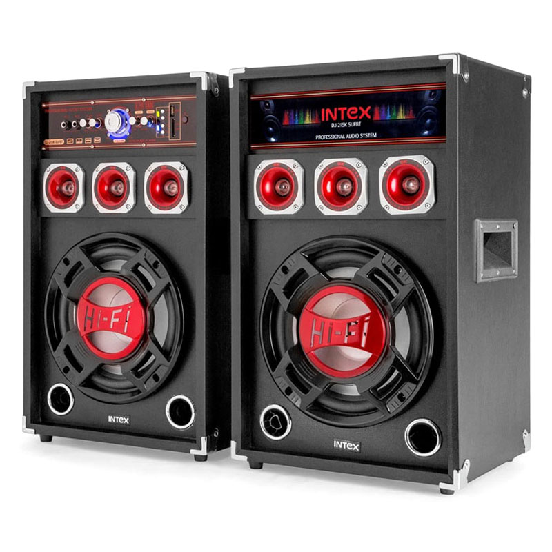 Set 2 boxe Intex, bluetooth, radio, USB, 2 x 60 W, microfon 2021 shopu.ro