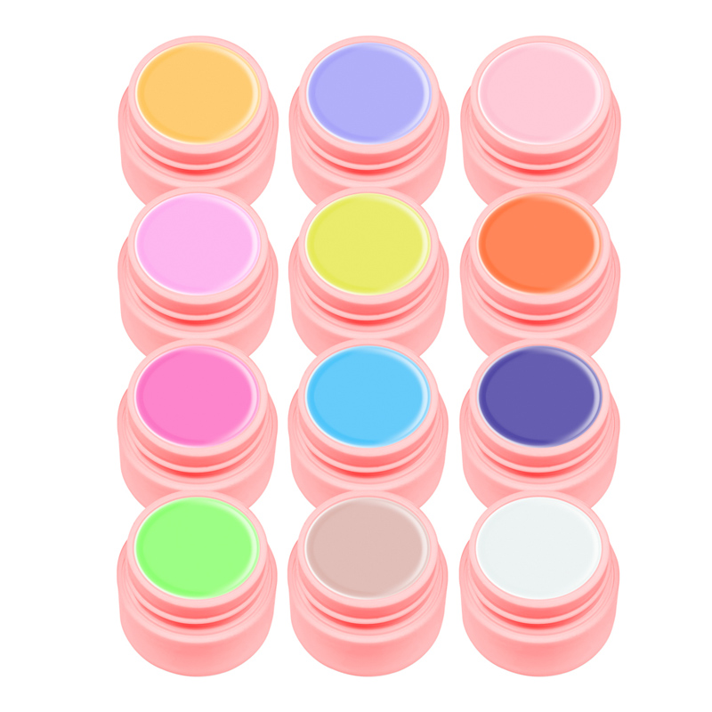 Set geluri color Canni Natural Youth Series, 5 ml, 12 culori