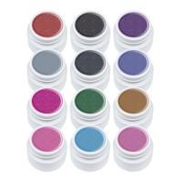 Set geluri color Lila Rossa Glitter Series, 5 ml, 12 bucati
