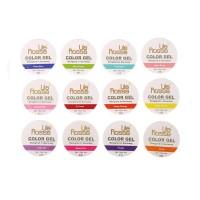 Set geluri color pentru unghii Lila Rossa Neon Series, 12 bucati