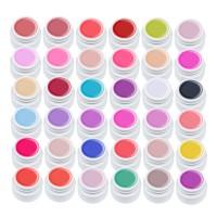 Set geluri color pentru unghii Summer Series Lila Rossa, 36 bucati