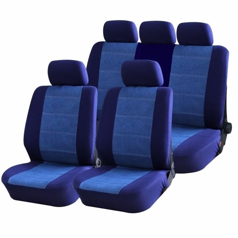 Set huse auto Blue Jeans Ro Group, 9 piese 2021 shopu.ro