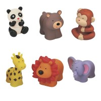 Set jucarii moi Pop Blocks, model animale, 18 luni+