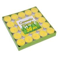 Set lumanari Citronella Tealight, 50 bucati