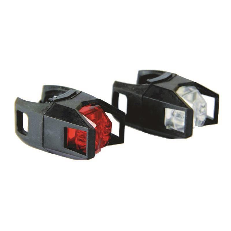 Set lumini pentru bicicleta Fighter Blade, 2 x CR2032, 2 functii 2021 shopu.ro
