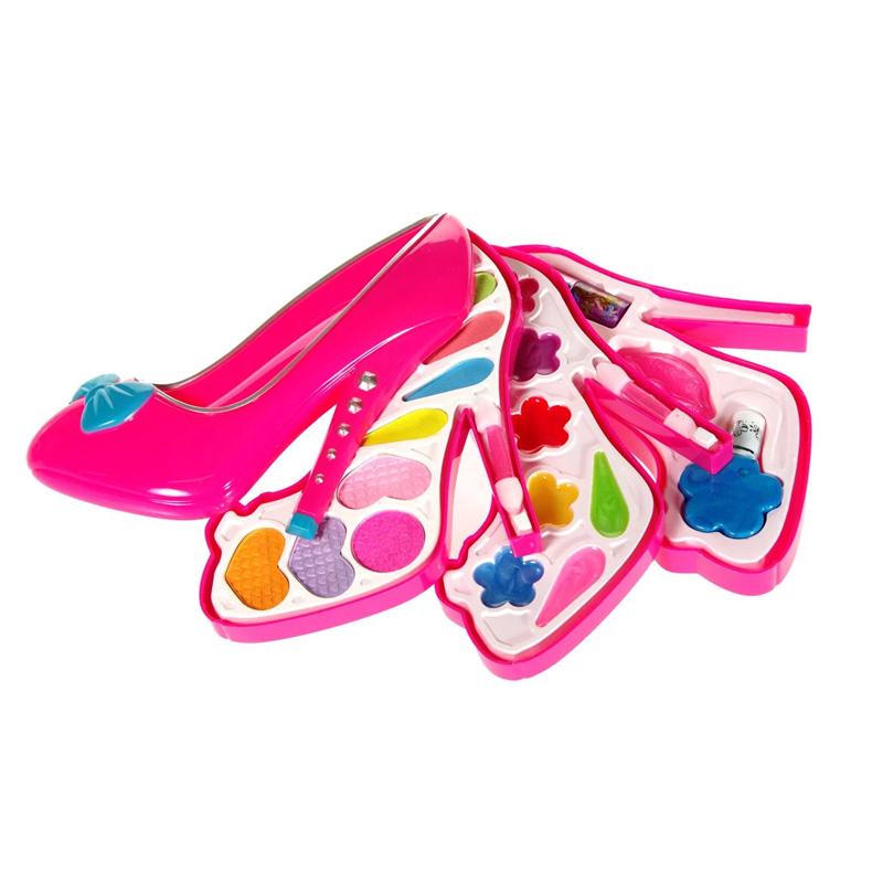 Set machiaj pentru fetite, 30 x 27 cm, forma pantof 2021 shopu.ro