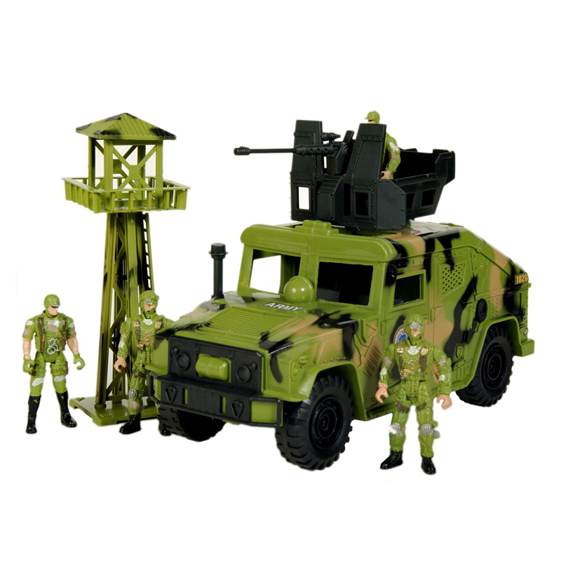 Set masina si soldati Military Series, 3 ani+ 2021 shopu.ro