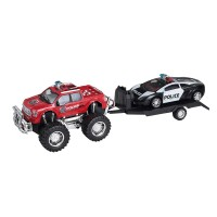 Set masini Friction Police Trailer, 3 ani+
