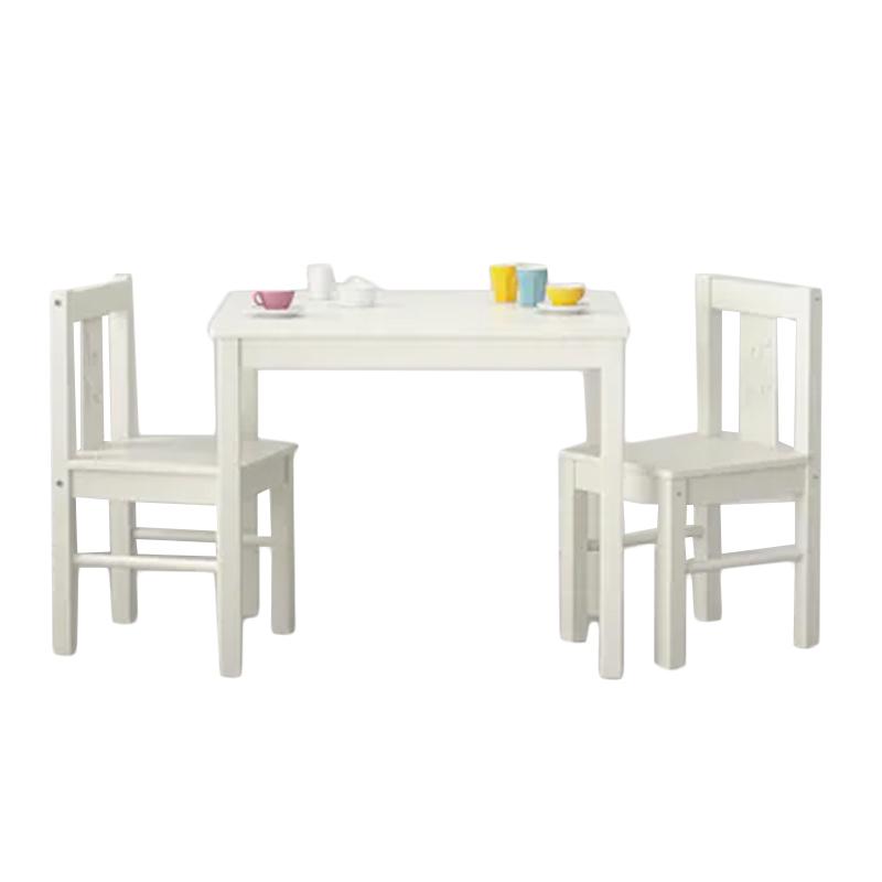 Set masuta si scaune pentru copii Cat And Dog, Alb 2021 shopu.ro