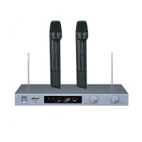 Set 2 microfoane wireless LWM-1612B, emisie FM
