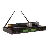 Set microfoane wireless Konig, 16 canale, afisaj, autonomie pana la 6 ore