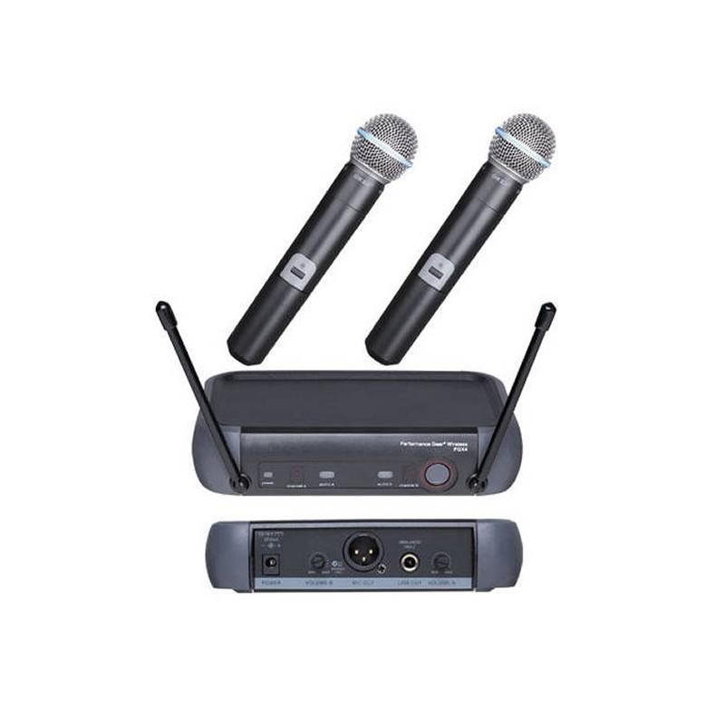 Set 2 microfoane profesionale wireless PGX4, 60 m 2021 shopu.ro