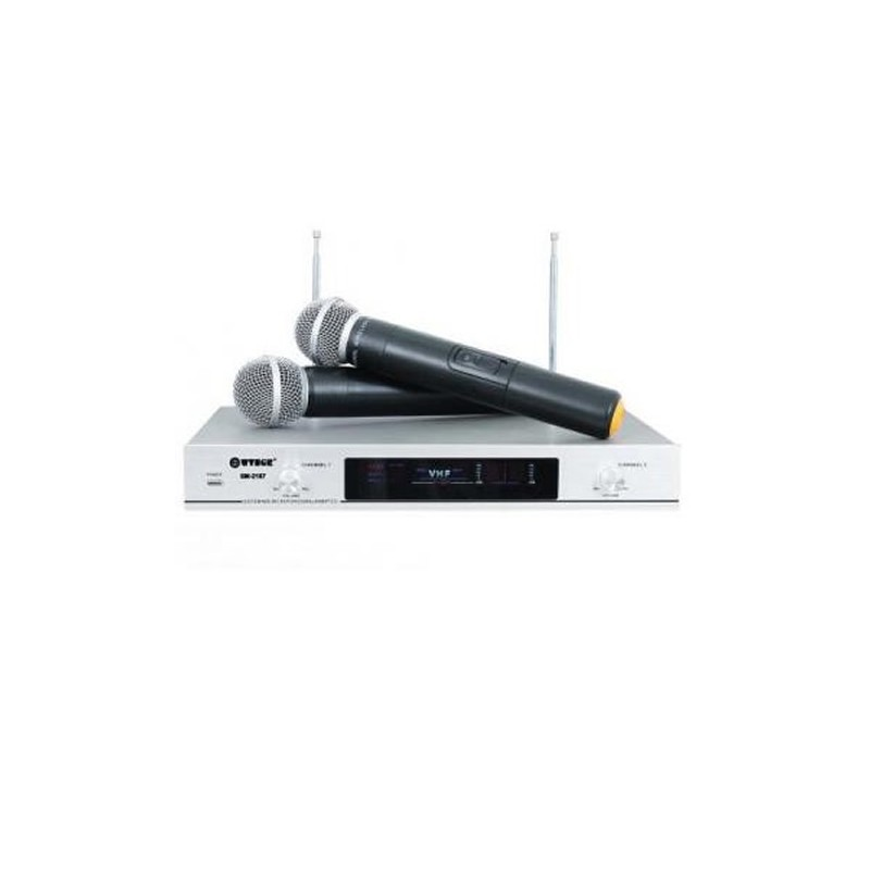 Set microfoane wireless WG-2006, receptie FM, LCD
