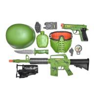 Set militar Combat Zone, 11 accesorii, 3 ani+