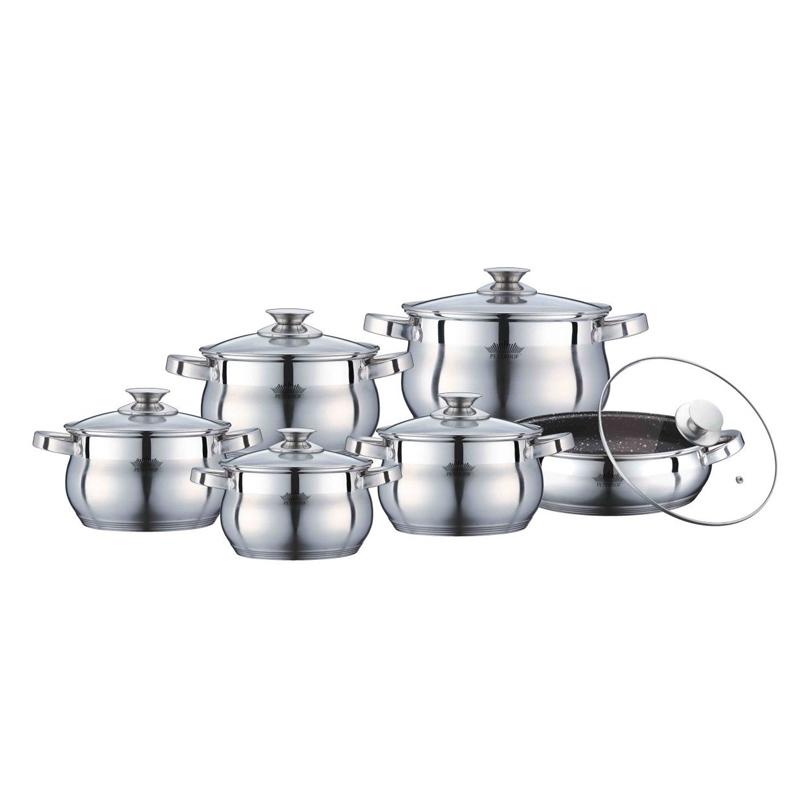Set oale inox Peterhof, 12 piese, capace incluse