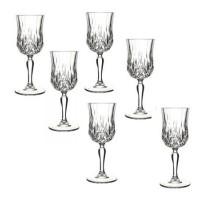 Set pahare cu picior Opera RCR, 160 ml, 6 piese, sticla cristalina