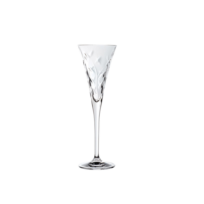 Set pahare sampanie Laurus RCR, 120 ML, sticla cristalina, transparent, 6 bucati 2021 shopu.ro