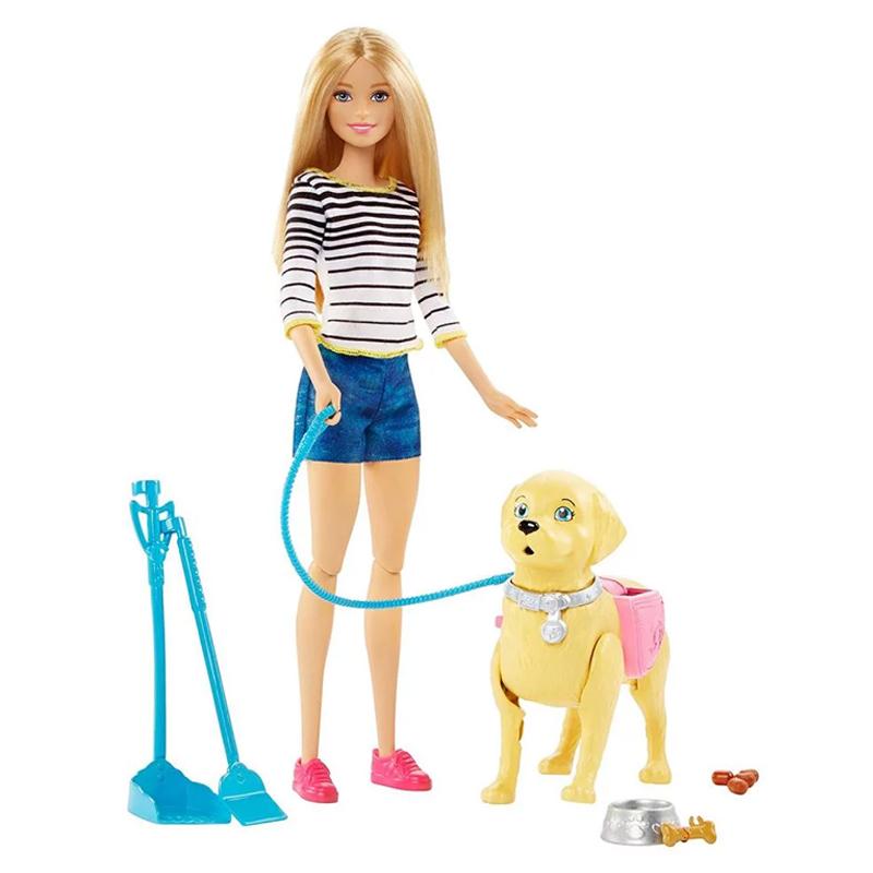 Set papusa Barbie si catel, accesorii incluse, 3 ani+ 2021 shopu.ro