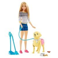 Set papusa Barbie si catel, accesorii incluse, 3 ani+