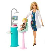 Set papusa doctor dentist Barbie, accesorii incluse, 3 ani+