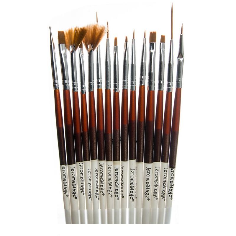 Set pensule pentru unghii Jerome Stage, 15 piese 2021 shopu.ro