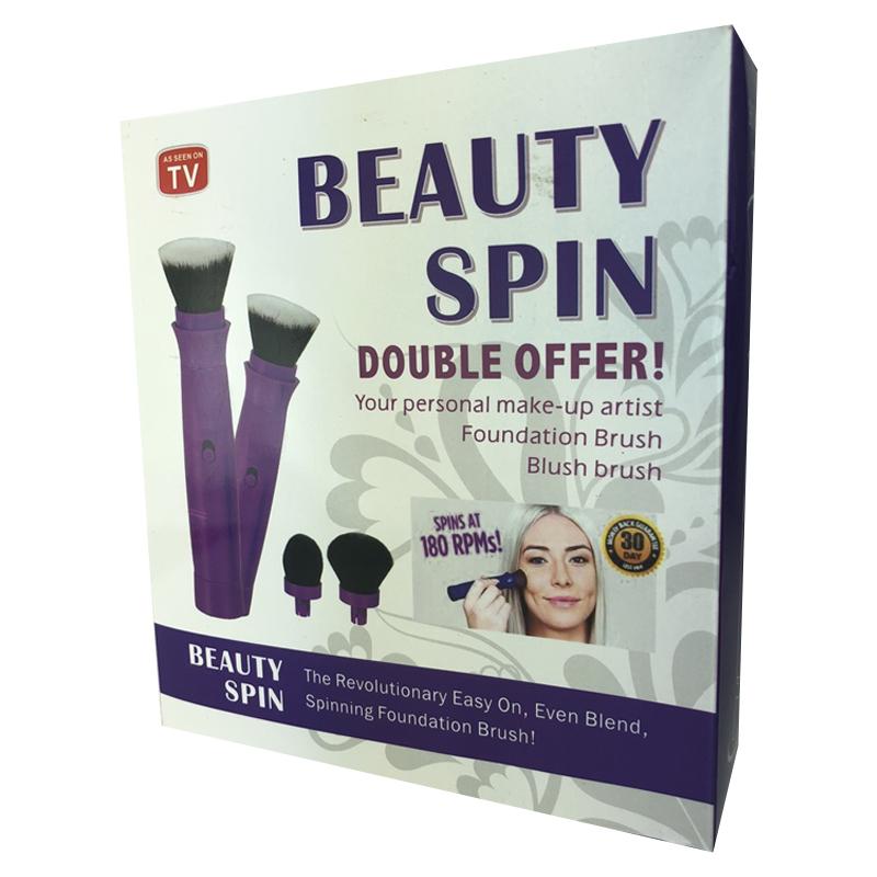 Set pensule rotative pentru machiaj Beauty Spin, 2 x AAA, 4 capete