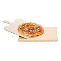 Set pentru coacere pizza Rommelsbacher, 36 x 35 cm, suport lemn