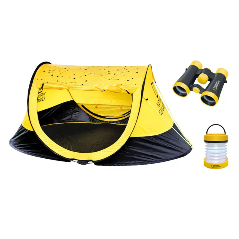 Set pentru excursii National Geographic, cort, binoclu si lanterna 2021 shopu.ro