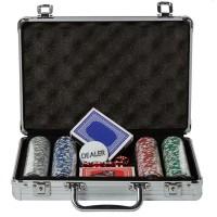Set poker, 200 jetoane, geanta diplomat inclusa