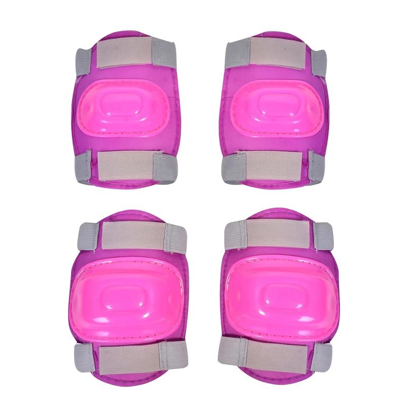 Set protectii coate/genunchi Skates, prindere velcro, Roz 2021 shopu.ro