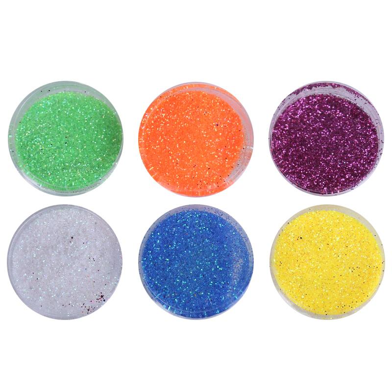 Set sclipici pentru unghii, 6 culori 2021 shopu.ro